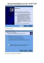 Drucker unter AVM 7170.pdf - PC GAMES HARDWARE EXTREME