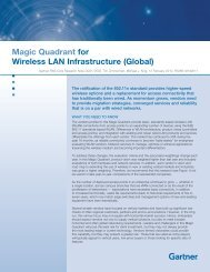 Magic Quadrant for Wireless LAN Infrastructure ... - Comm Solutions
