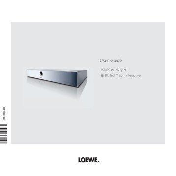 User Guide BluRay Player - Loewe
