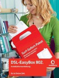 Vodafone DSL-EasyBox 802 Installationsanleitung