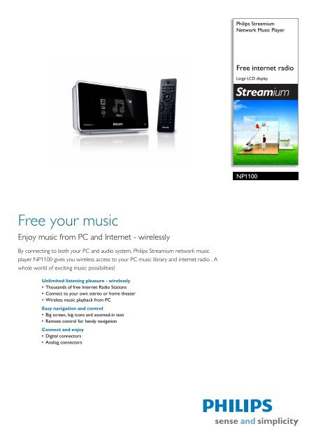 NP1100/12 Philips Network Music Player