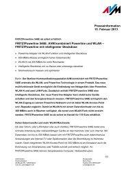 FRITZ!Powerline 546E: AVM kombiniert Powerline und WLAN ...