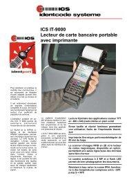Lecteur de cartes bancaires portables ICS IT-9000 avec imprimante