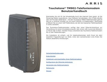 Touchstone® TM902-Telefoniemodem - Arris