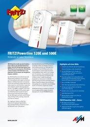 FRITZ!Powerline 500E und 520E - AVM