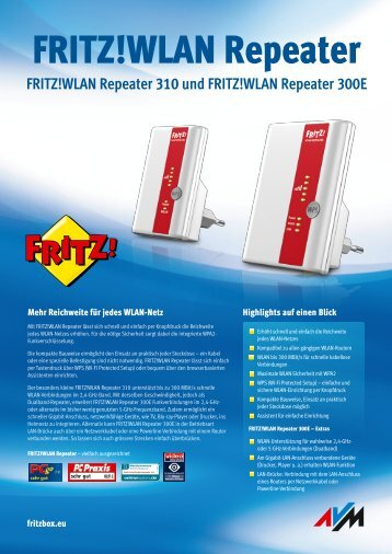 WLAN Repeater 300E - Fritz!