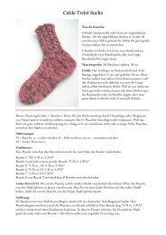 Cable Twist Socks - Hello Yarn