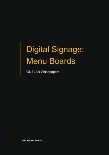 Digital Signage: Menu Boards - Onelan