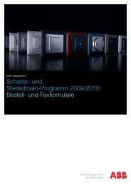 Schalter- und Steckdosen-Programm 2009/2010 Bestell- und ...