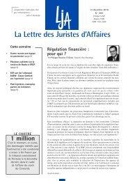 La Lettre des Juristes d'Affaires - Paul Hastings