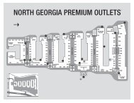 Download Printable Center Map. - Premium Outlets