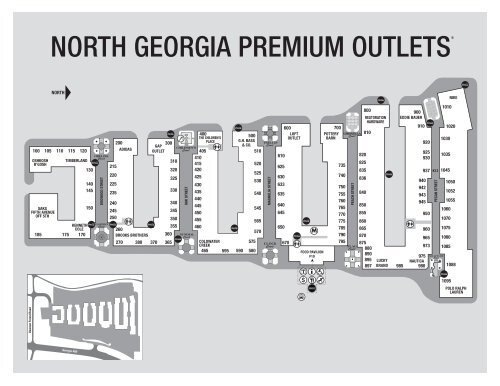 North Georgia Premium Outlet Map Download Printable Center Map.   Premium Outlets