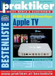 Apple TV: AV-HDD- & LAN-AV-Stream-Player - ITM ... - Praktiker.at