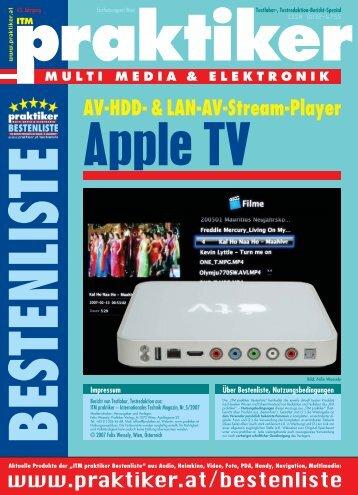 Apple TV: AV-HDD- & LAN-AV-Stream-Player - ITM ... - Praktiker.at
