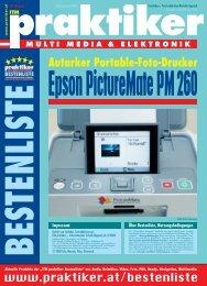 Epson PictureMate PM 260: Autarker Portable-Foto-Drucker - ITM ...