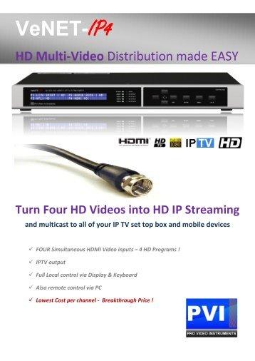 VeNET-IP4 - Pro Video Instruments