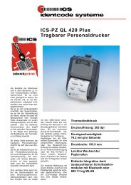 ICS-PZ QL 420 Plus Tragbarer Personaldrucker - ICS Identcode ...
