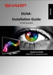 DLNA- Installation Guide - Sharp