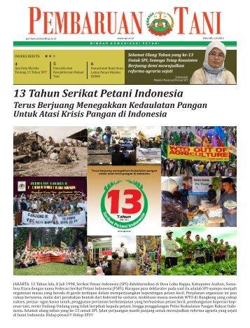 Edisi 89, Juli 2011 - Serikat Petani Indonesia