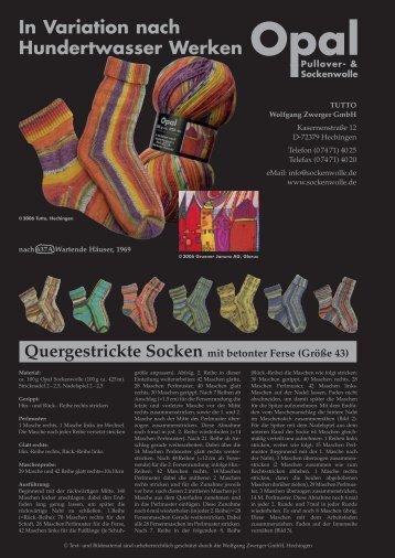 Quergestrickte Socken - Tutto