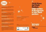 14,00 Euro: 3er Pack Socken. Oder echten ... - Theater Dortmund