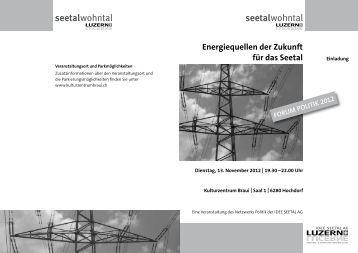 Energiequellen der Zukunft für das Seetal - IDEE SEETAL AG