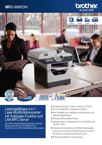 MFC-8880dn Multifunktionsdrucker von Brother