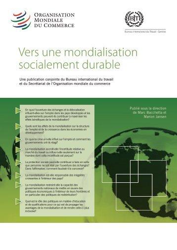 Vers une mondialisation socialement durable