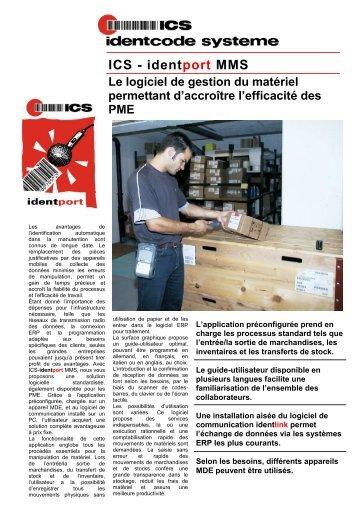 ICS - identport MMS - ICS Identcode Systeme AG