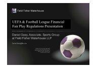 UEFA & Football League Financial Fair Play ... - clients.squareeye.com
