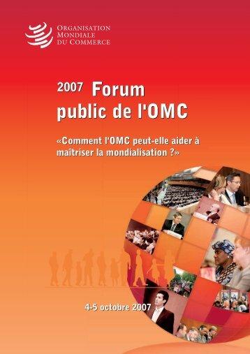 public de l'OMC Forum public de l'OMC Forum - World Trade Organization
