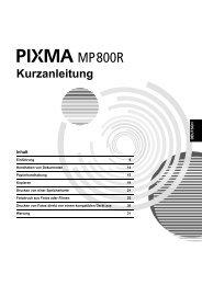 PIXMA MP800R MP800R_QSG_DEU_V1.pdf - Canon Deutschland