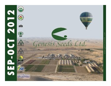 OCTOBER 2012 - Genesis Seeds Ltd.