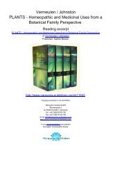Vermeulen / Johnston PLANTS - Homeopathic and Medicinal Uses ...