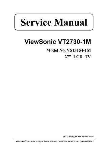Viewsonic n1930w-2-m vs12115-2m service manual download.