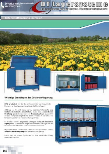 PolySafe-Depots - DT Lagersysteme