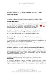 Patienteninfo Herzkrankheiten - Dr. med. dent. Mark Thomas ...