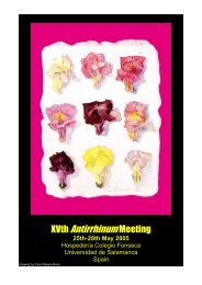 XVth AntirrhinumMeeting - Universidad de Salamanca