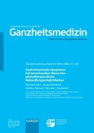 Gastrointestinale Symptome bei tumorkranken Menschen ...
