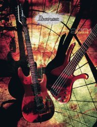 2001 Ibanez Electric Guitar Catalog - Martin Simmons - Home Page