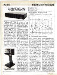 IAUDIO EQUIPM ENT REVIEWS QUAD MODEL 306 POWER AM ...