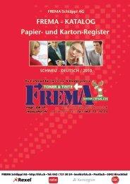 KATALOG Papier- und Karton-Register - FREMA Schläppi AG