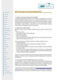 Passenger Name Record data (PNR) - Association of European ...
