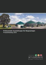 Ausstattungen für Biogasanlagen - MT-Energie GmbH
