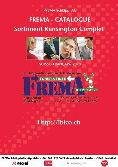 FREMA - CATALOGUE Sortiment Kensington Complet Http://ibico.ch