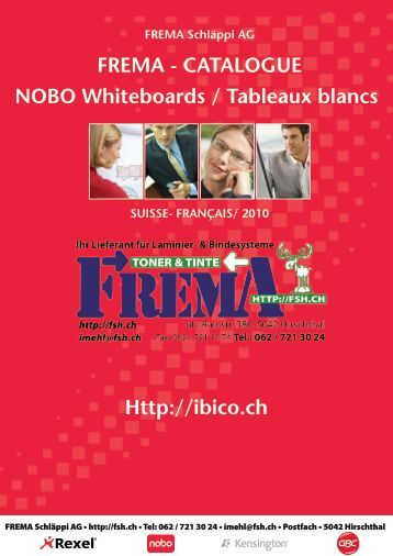 FREMA - CATALOGUE NOBO Whiteboards / Tableaux blancs Http ...
