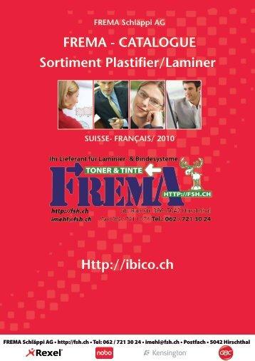 FREMA - CATALOGUE Sortiment Plastifier/Laminer Http://ibico.ch