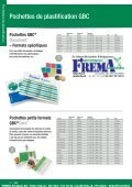 FREMA - CATALOGUE Sortiment Plastifier/Laminer Http://ibico.ch - Page 7