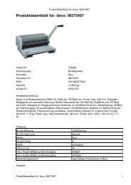 Produktdatenblatt für: ibico: IB273407 - Mercateo