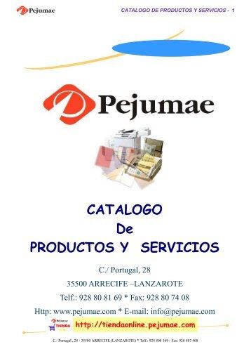 CATALOGO 2007 - Pejumae.